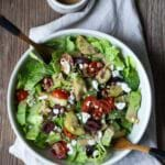 Mealtime Monday: Greek Salad with Hummus Dressing