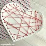 Threaded Heart Paper Plates